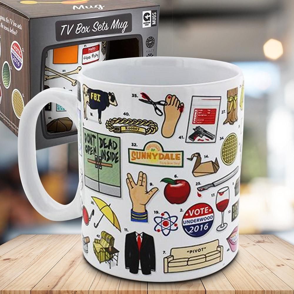 The Ultimate TV Box Series Quiz Mug Mugs, Quirky gifts