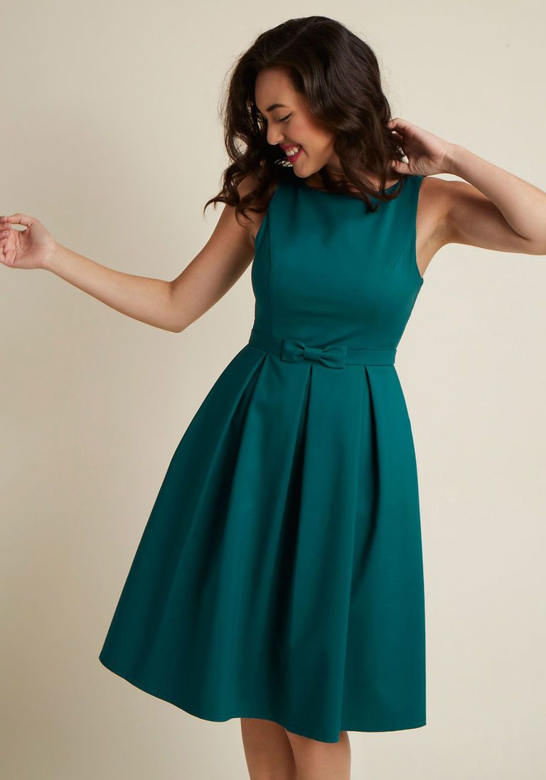 0ff0250622fe High-Neck Pleated Fit and Flare Dress in 1X - Sleeveless Fit & Flare Knee  Length - Plus Sizes Available