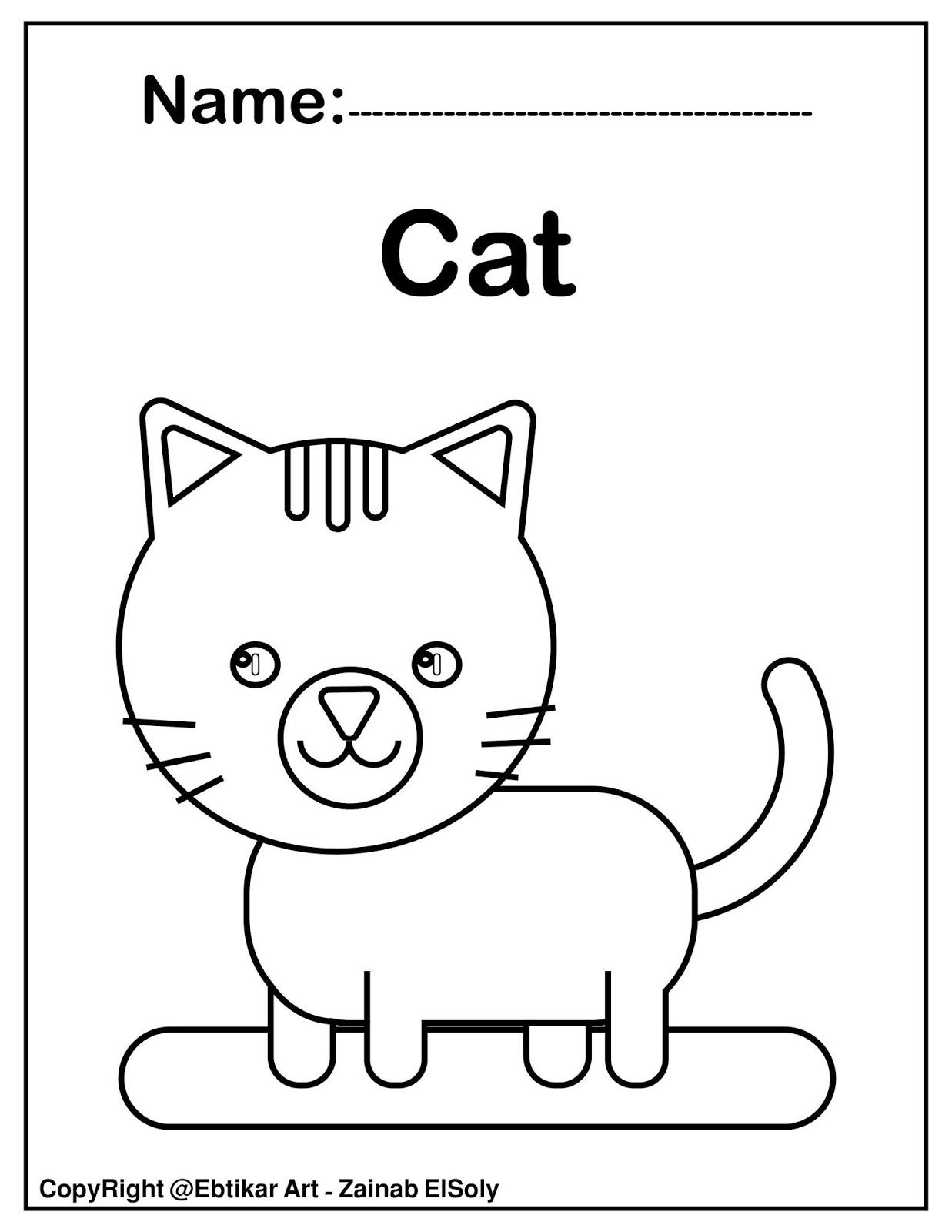 Set Of Cute Animals Coloring Pages Preschool Coloring Pages Cute Animal Coloring Pages Kindergarten Coloring Pages