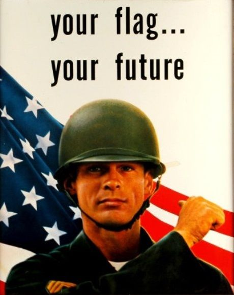 Army National Guard Recruiting Poster 60s 70s Retro Vintage Americana Military