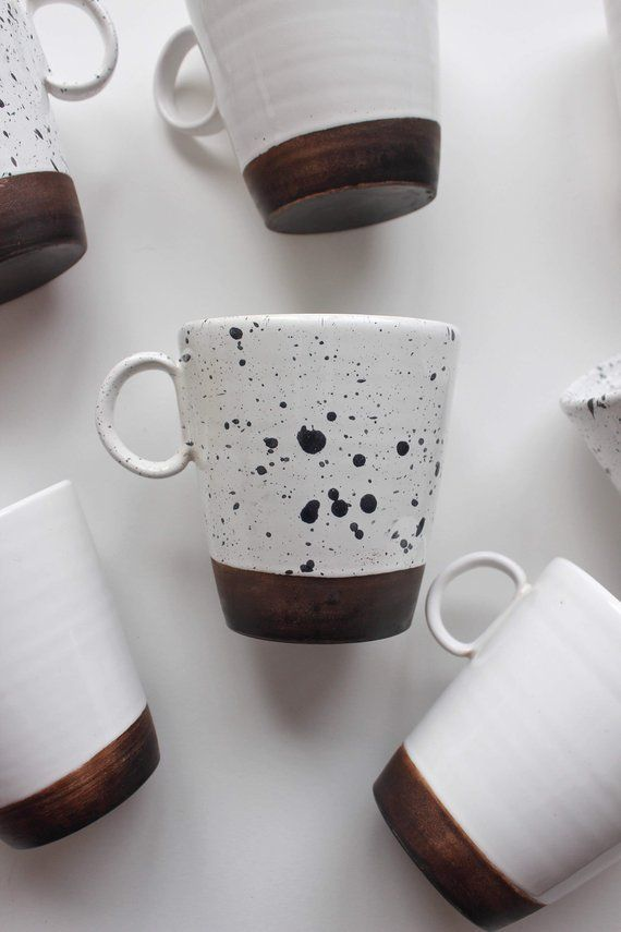 Coffee cup Tea Cafe Hand painted brown coffee cup | Coffee