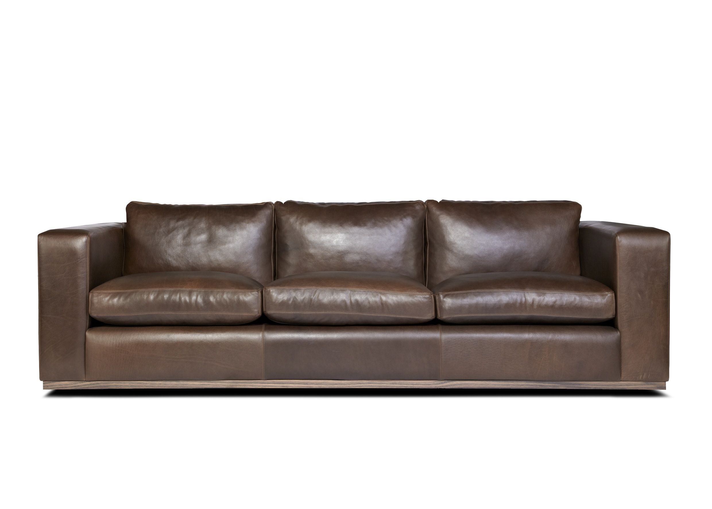 Curtis Sofa by Arthur G Navy Leather Sofa