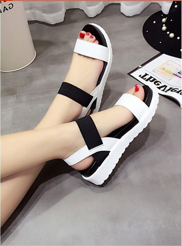 f6f33fa83d Women Summer Shoes Sandals Peep-Toe Flat Shoes Roman Sandals ITC831. -  Sandals   Flip Flops