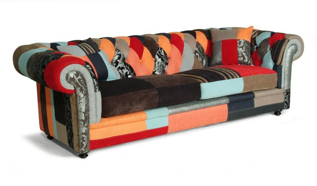 Divano Patchwork ~ A patchwork fabric chesterfield sofa the bjorn is manufactured in a