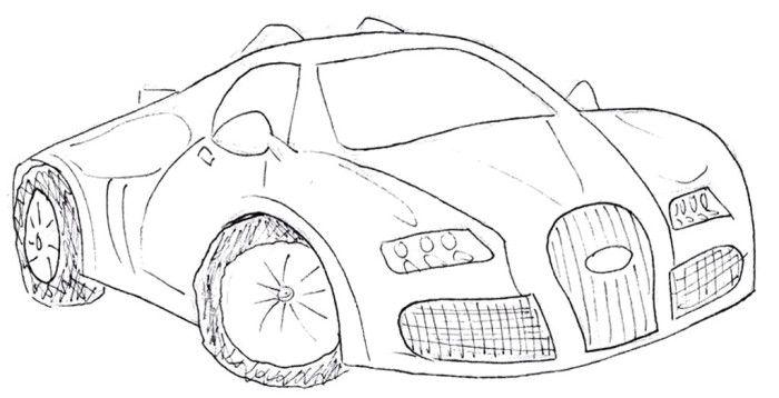 Bugatti Veyron Gt Bild Coloring Page Bugatti Veyron Bugatti Veyron