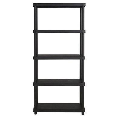 "Keter Freestanding Plastic Storage 72"" H Five Shelf Shelving Rack Unit &…"