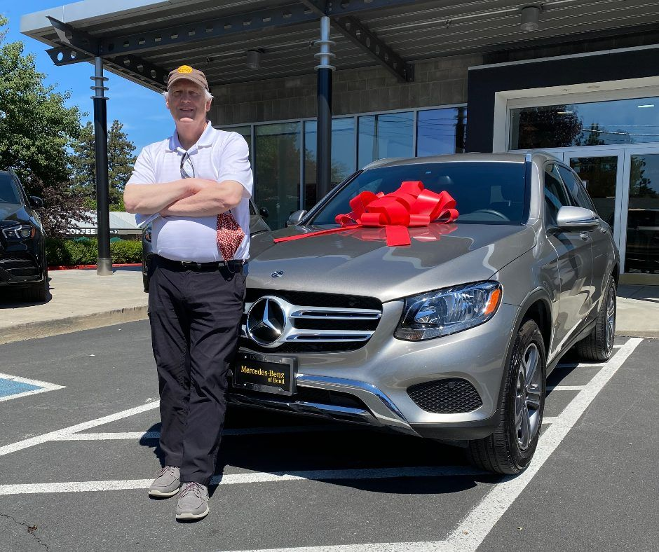 Richard Just Became The Proud Owner Of This New 2019 Mercedes Benz Glc 300 So Naturally We Had To Congratulate You Mercedes Benz Car Dealership New Mercedes