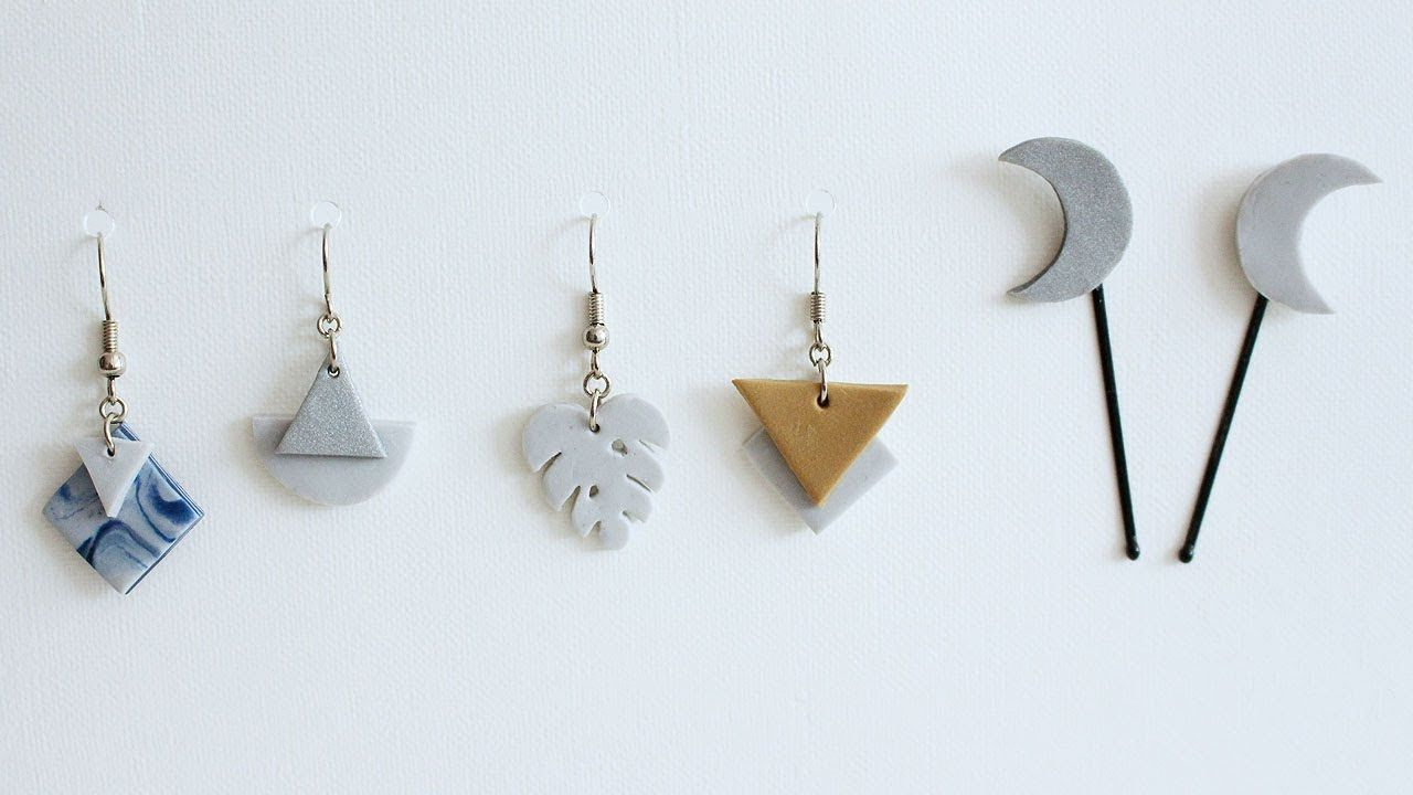 Diy clay jewelry and hair pins youtube with images