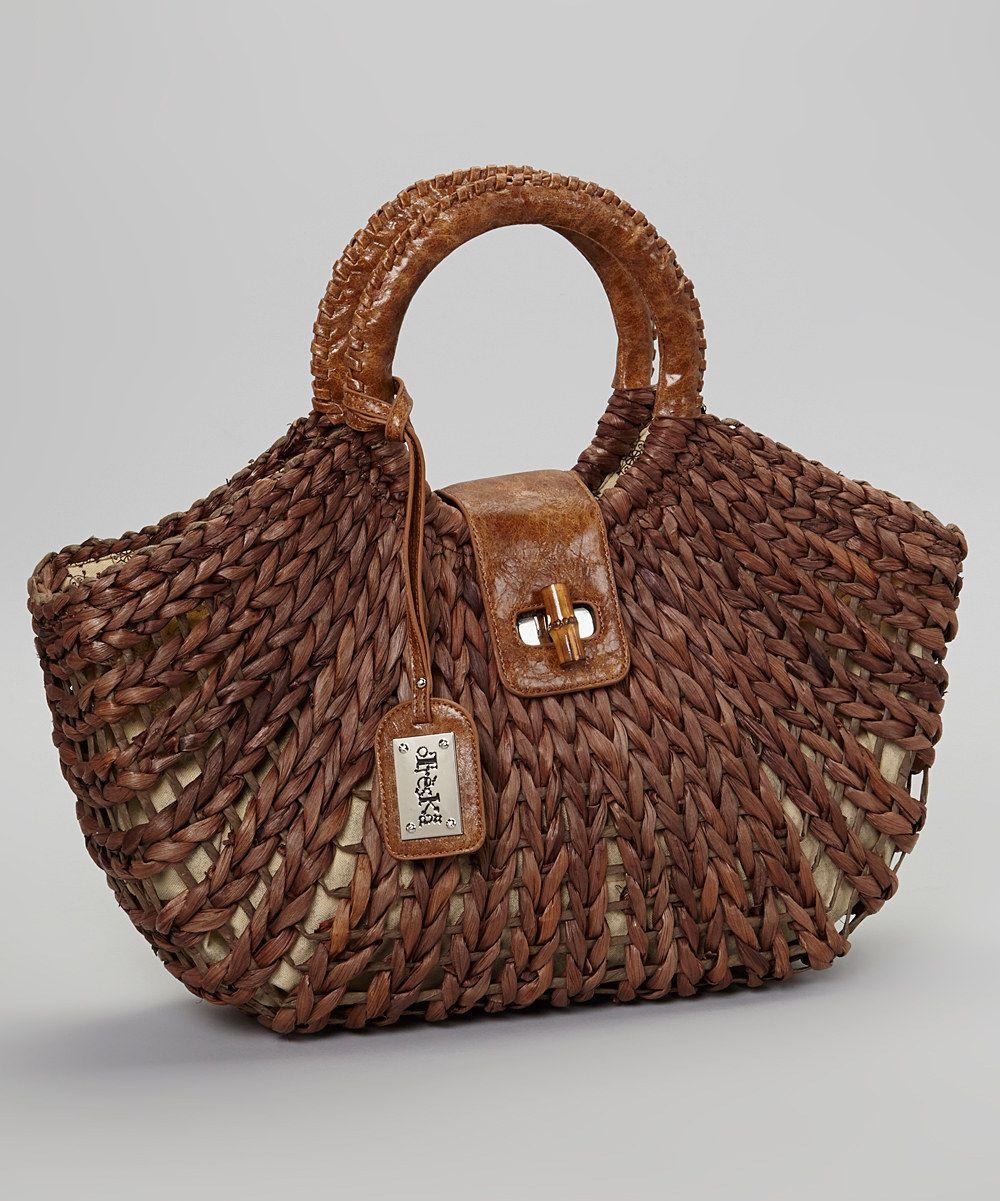 Love This Brown Basket Weave Handbag By Treska On Zulily Zulilyfinds