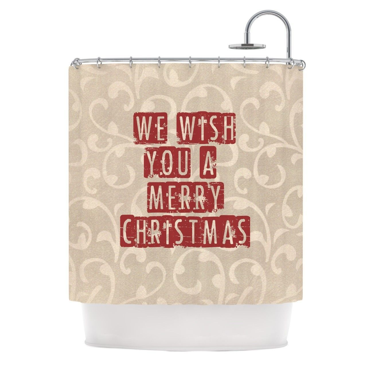 We Wish You a Merry Christmas Shower Curtain | Shower Curtains ...