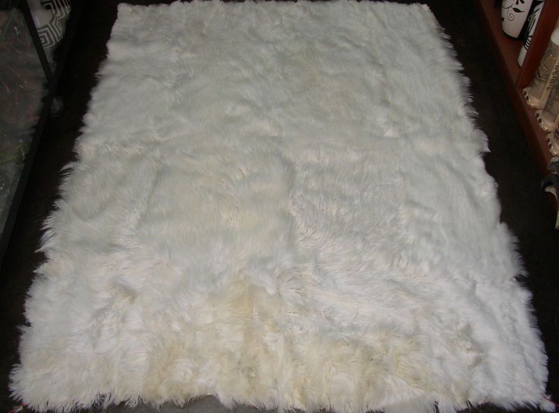 Peruvian Baby Alpaca Fur Rug White X By Peruvianplace