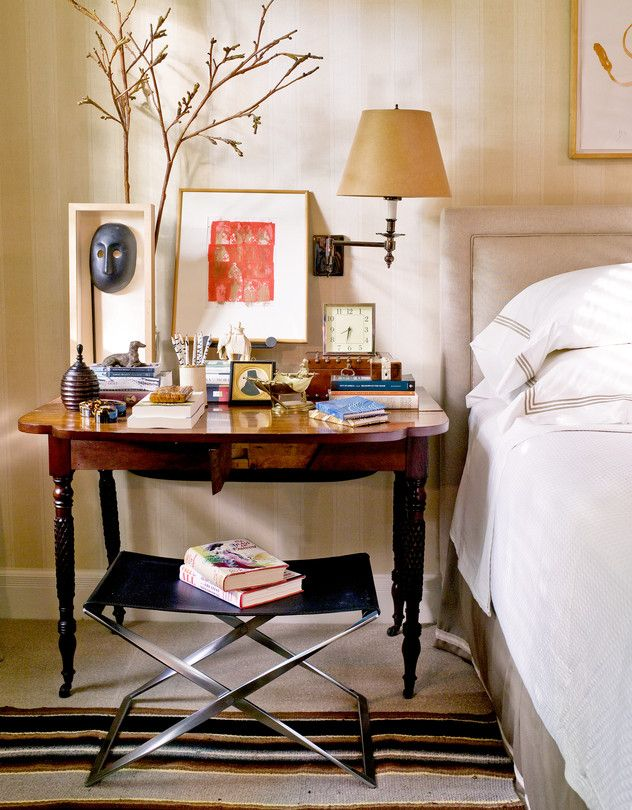 a questionable shortcut to home decorating ideas for a stylish bedbedside mannerism an eclectic collection of nightstand accessories amassed by designer matthew patrick smyth