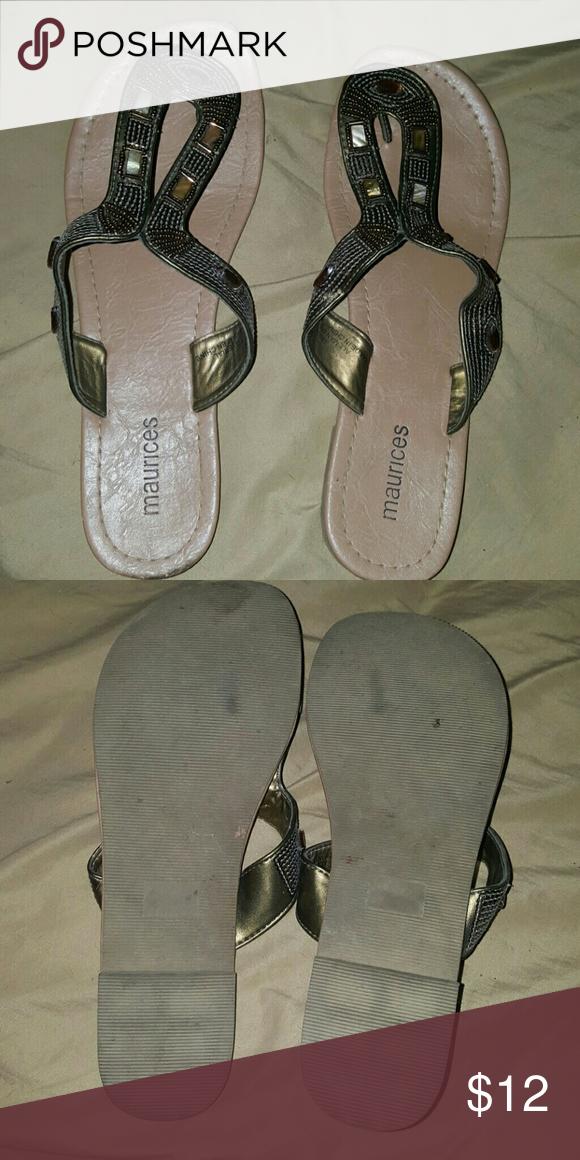 Brown flops Brown flip flops Shoes Sandals