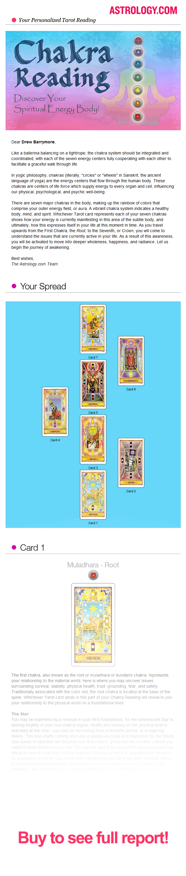 Chakra Tarot Reading  Premium Reports  Readings By AstrologyCom