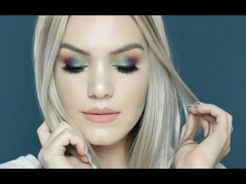 Multi-Jewel Tone/Duochrome Makeup Tutorial, FT. Makeup Geek Duochromes | Mariah Leonard - YouTube