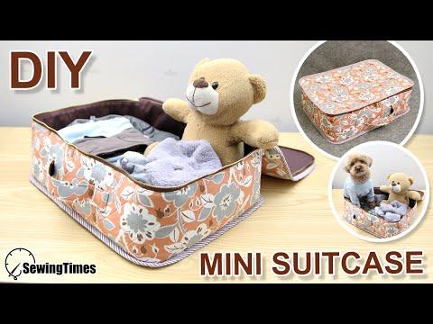 DIY FABRIC SUITCASE | Travel Luggage Bag Sewing & Tutorial [sewingtimes]