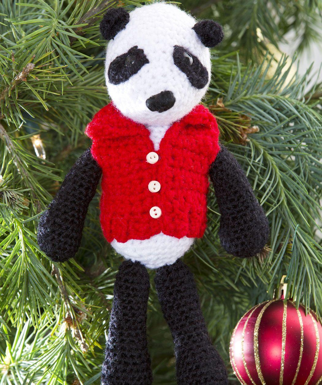 Pandabär mit Weste | Tiere häkeln, stricken und nähen | Pinterest ...