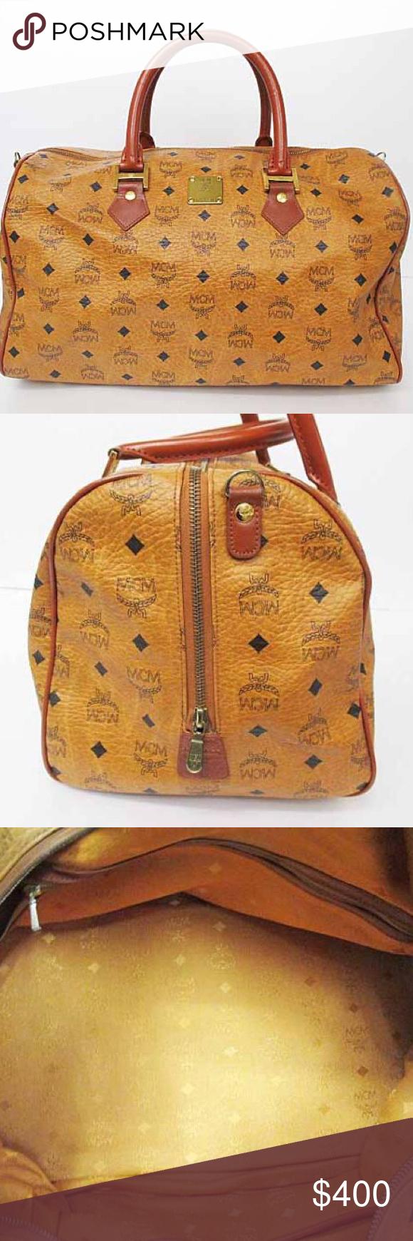 239c6306e68b Authentic MCM 35 Speedy Boston Handbag 100% Authentic Vintage MCM Cognac 30  Boston bag same size as a Louis Vuitton 35 speedy condition 9 of 10  excellent ...
