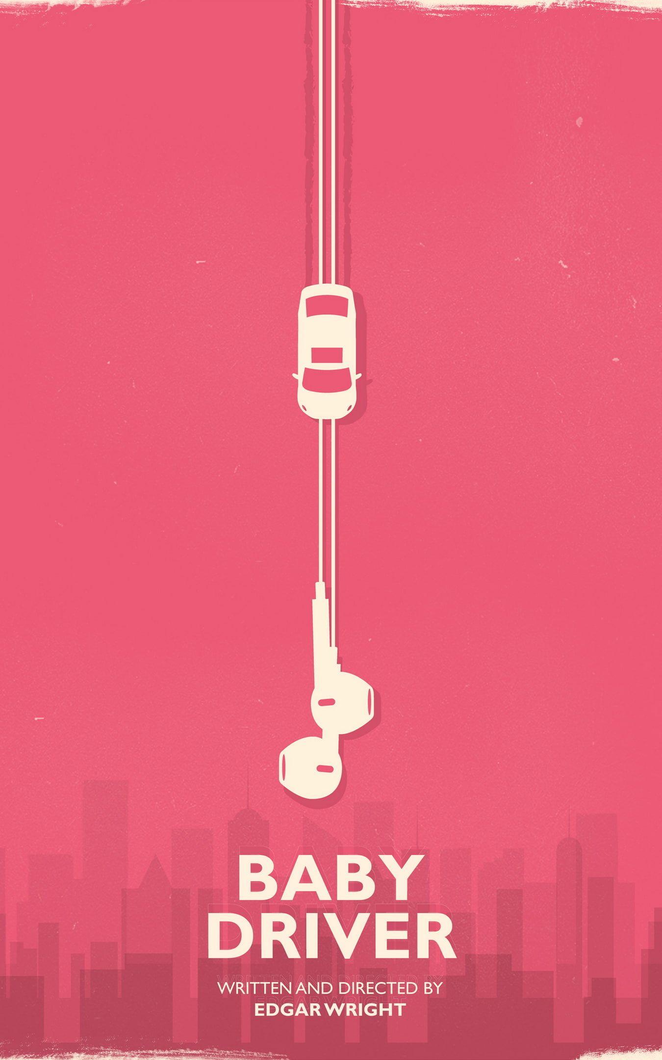 Movies Edgar Wright Baby Driver Minimalism Car 1080p Wallpaper Hdwallpaper Desktop In 2021 Baby Driver Baby Posters Edgar Wright