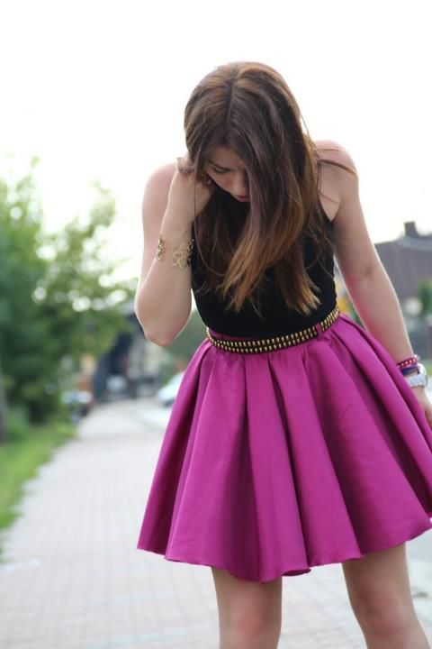Dig the #purple #skirt