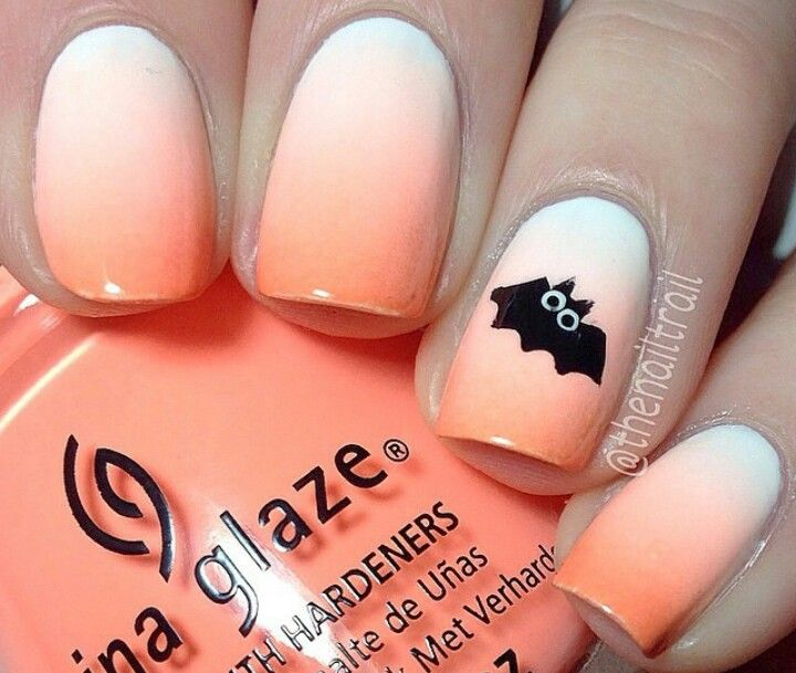 Orange ombre nails with bat detail | (Halloween) | Pinterest ... on easy nail polish design, easy neon nail designs, easy nail designs for beginners, awesome easy nail designs, diy easy butterfly nail designs, easy do yourself nail designs, easy to do art, quick and easy nail designs, easy to do tattoo designs, easy to do nail designs for short nails, easy to do toenail designs, easy zebra nail designs, easy flower nail designs step by step,