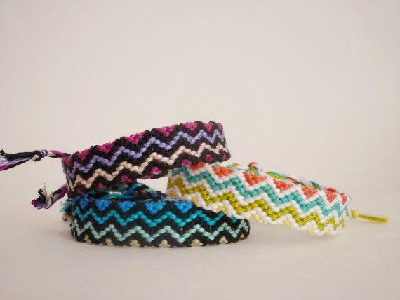 Custom Zig Zag Friendship Bracelet