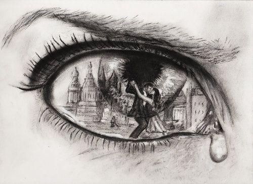 Art Drawing Eye Cry Cheeting Love Hurt Tears Boy Fgirl