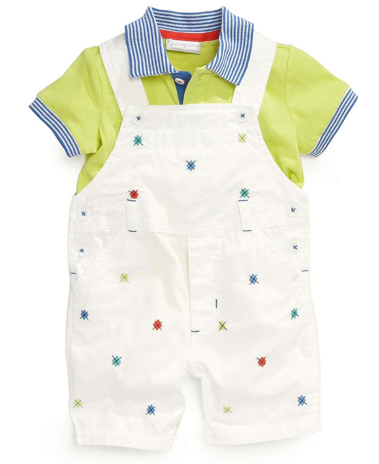 351ee0beb First Impressions Baby Boys  2-Piece Polo   Shortall Set - Kids Baby ...