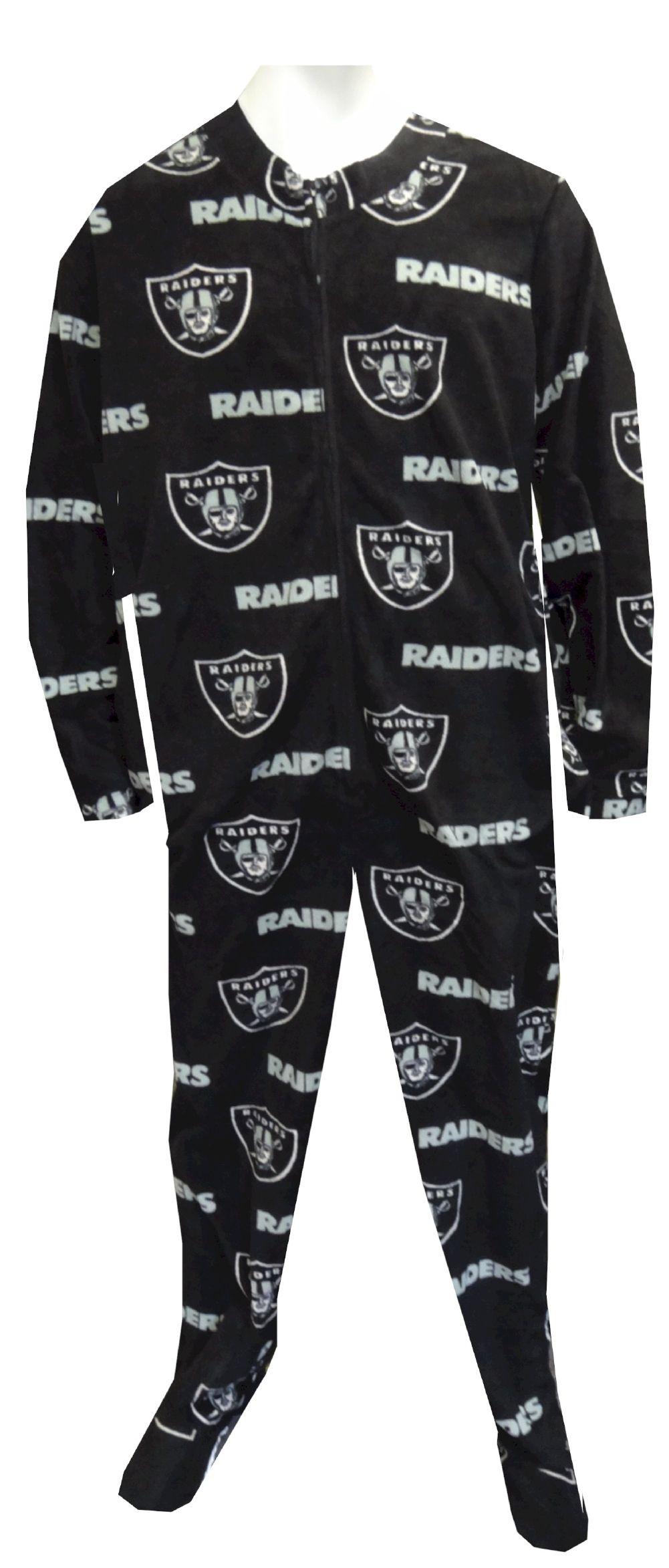 7ac91440 Oakland Raiders Logo Guys Onesie Footie Pajama Show your team spirit ...