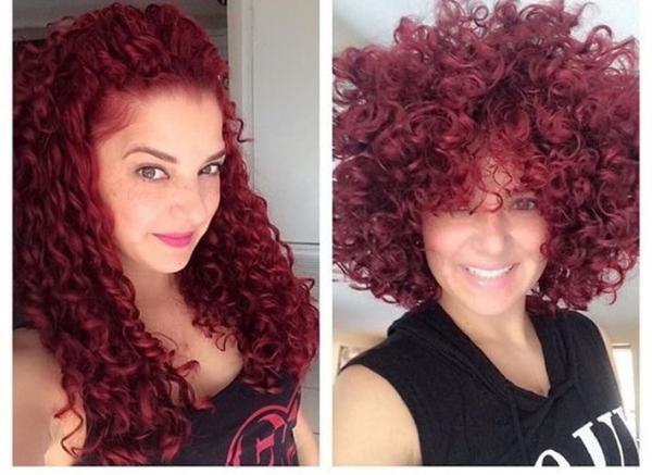 Long Curly Hair Vs Short Curly Hair Short Curly Hair Curly Hair Styles Long Curly Hair