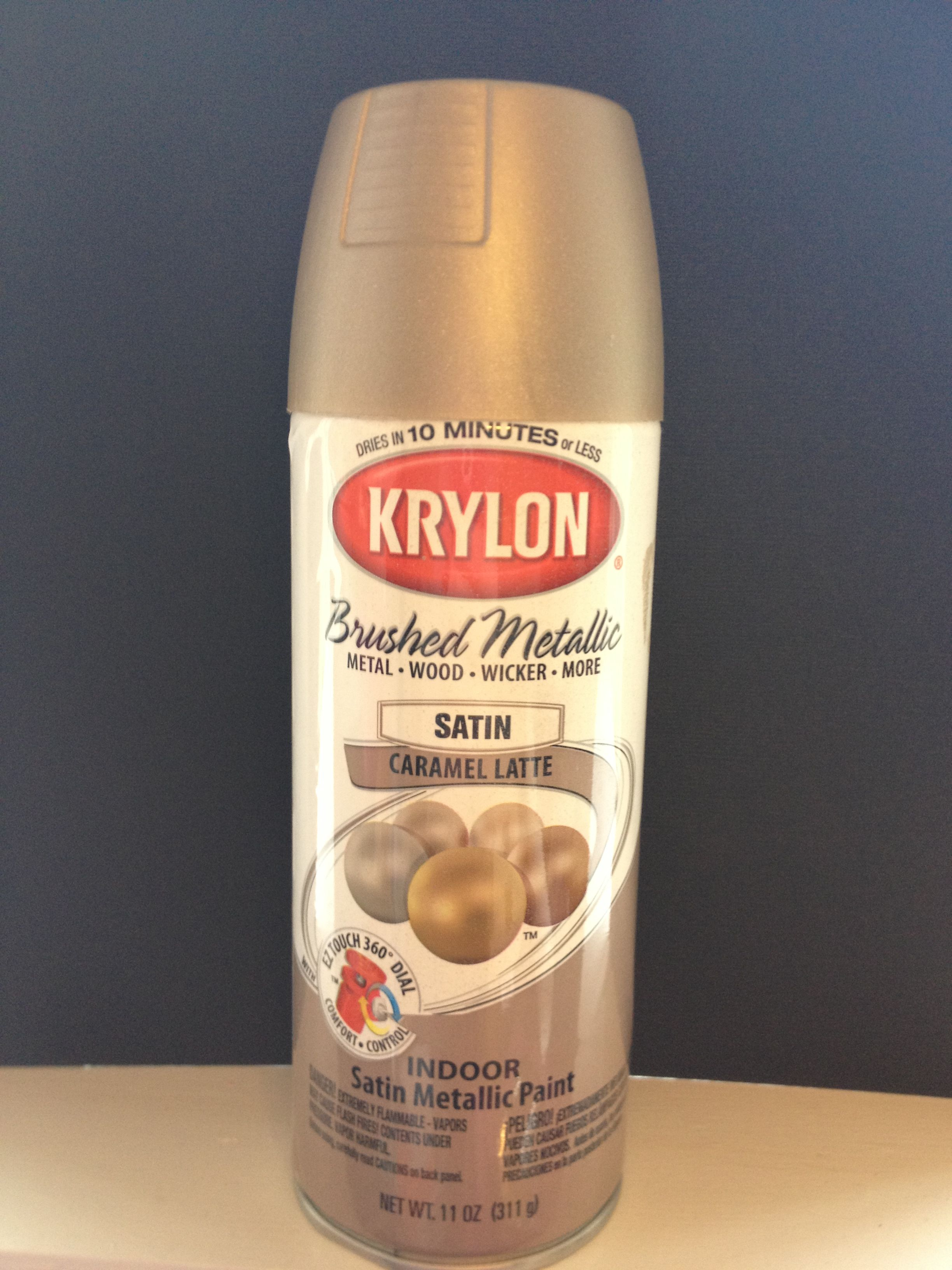 The best goldsilver spray paint i have found its the perfect goldsilver spray paint its the perfect color if your looking for something with a little bit of both colors in it krylon brushed metallic caramel latte geenschuldenfo Images