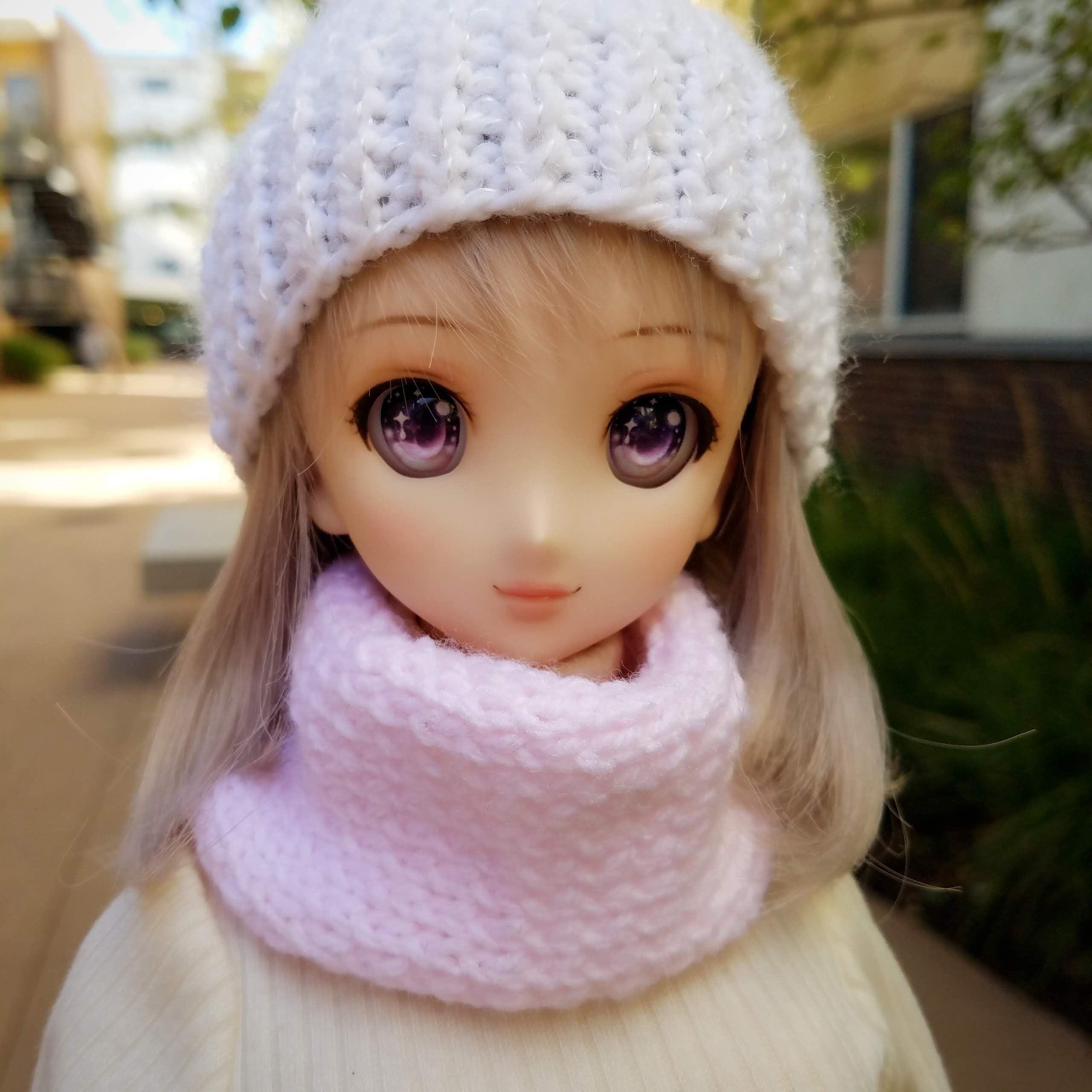 Photo of Knitted Infinity Scarf – Dollfie Dream | Smartdoll | SD | 1/3 BJD