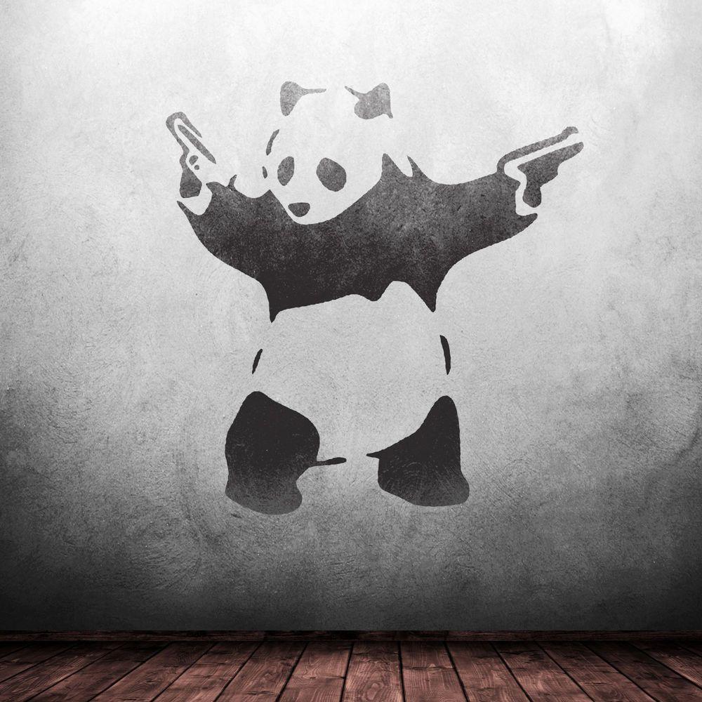 Details about banksy panda stencil reusable mylar