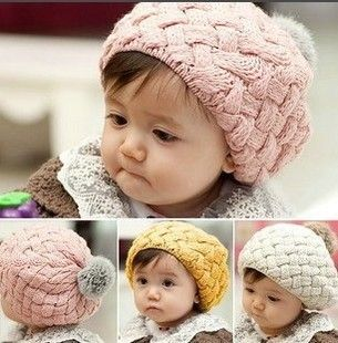 Christmas Gift Hat red/pink/beige Hot Fashion Cute Children Baby Kids Knit Crochet Beanie Winter Warm Hat Cap,Free Shipping-in Hats & Caps from Apparel & Accessories on Aliexpress.com
