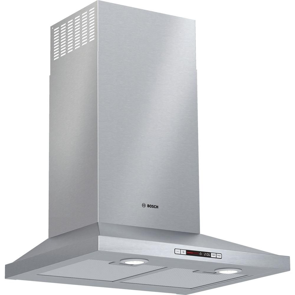 Bosch 300 Series 24 In 300 Cfm Convertible Wall Mount Range Hood With Light In Stainless Steel Silver Stainless Range Hood Steel Wall Wall Mount Range Hood