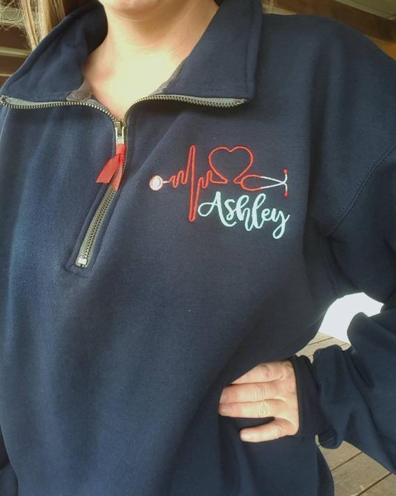 RN Gift, Nurse Shirt, Nursing Sweatshirt, Medical Assistant Pullover, Nursing Student, Clinical, Monogrammed Nurse, Nurse Accessories