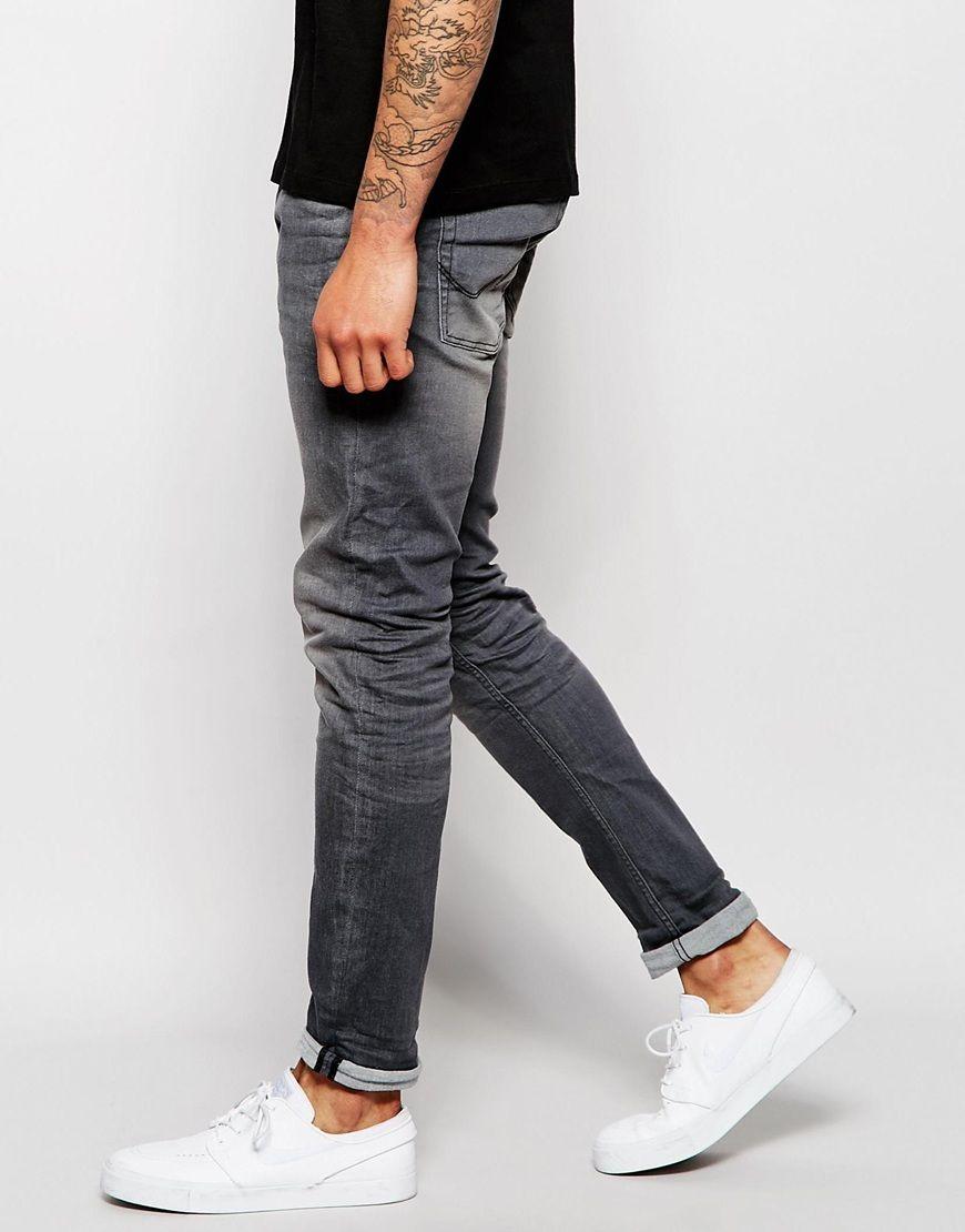 0ec6958ac10 Image 4 of Jack   Jones Super Stretch Washed Black Skinny Jeans ...