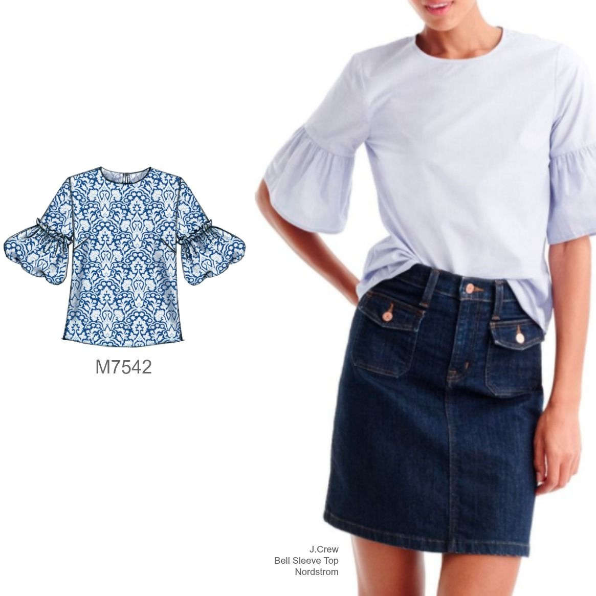 Sew the look mccalls m7542 bell sleeve top sewing pattern sew sew the look mccalls m7542 bell sleeve top sewing pattern jeuxipadfo Image collections