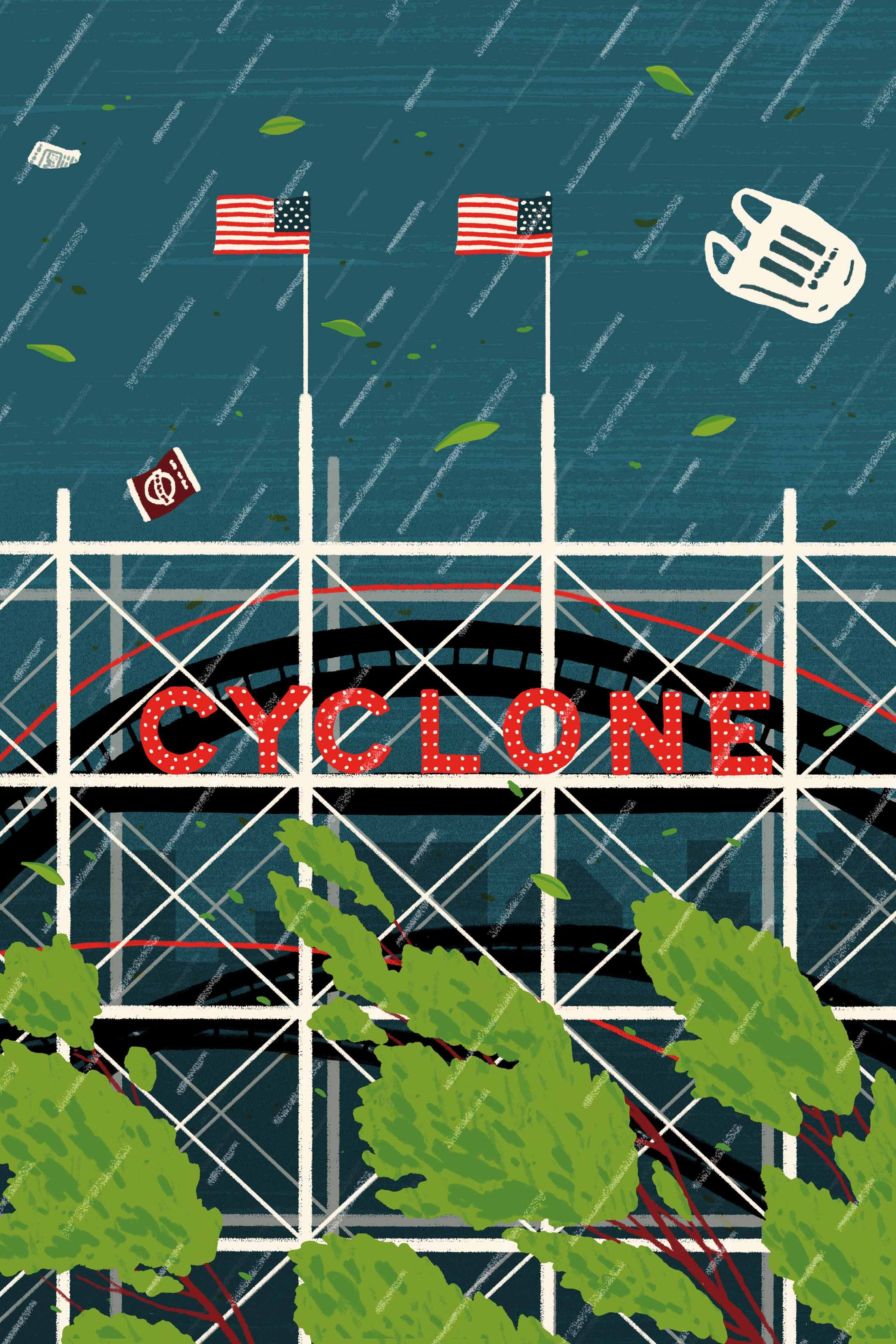 Illustration By Michael Parkin For Poem The Cyclone Coney
