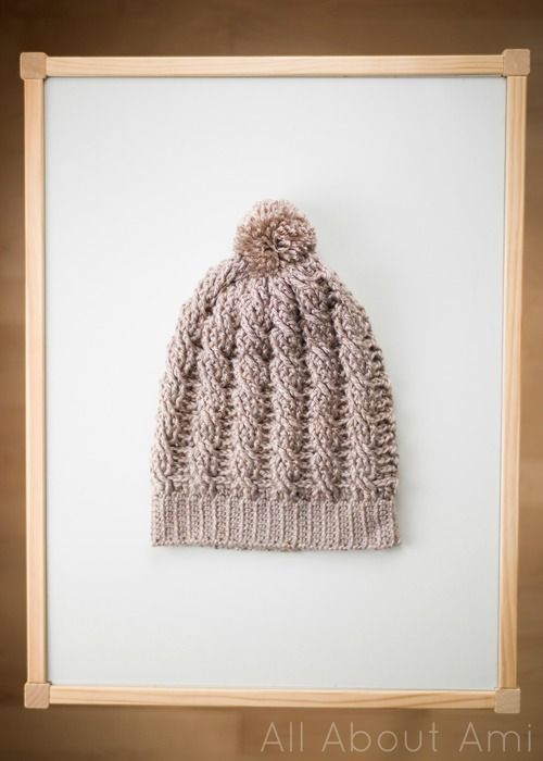 Cabled Slouchy Beanie By Stephanie - Free Crochet Pattern ...