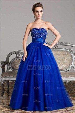 Ball Gown Strapless Sweetheart Floor-length Organza Prom Dress - IZIDRESS.com