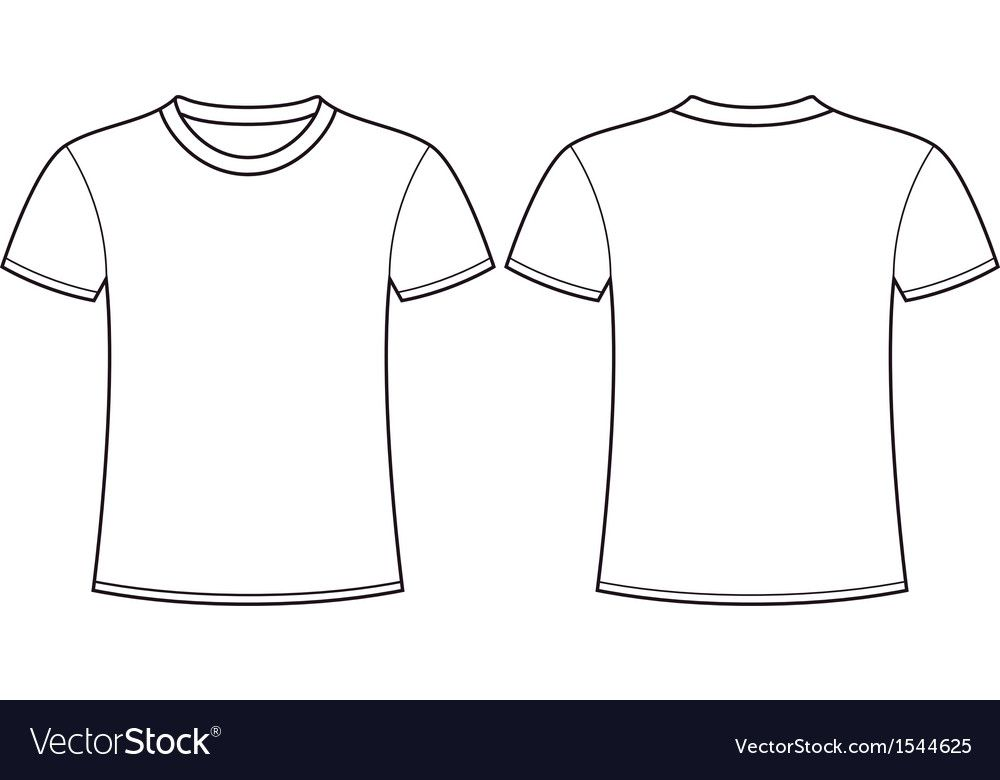 Download Blank T Shirt Template Front And Back Download A Free Preview Or High Quality Adobe Illustrator Ai Eps T Shirt Design Template Blank T Shirts Shirt Template