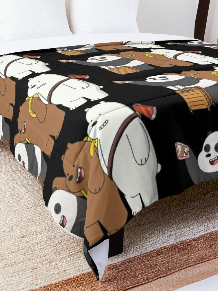 We Bare Bears Comforter By Plushism In 2021 We Bare Bears Wallpapers Bare Bears We Bare Bears