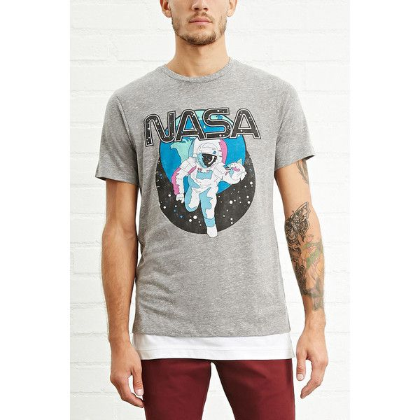 Forever 21 Men s NASA Graphic Tee (£14) ❤ liked on Polyvore featuring men s  fashion 1c05b87f7