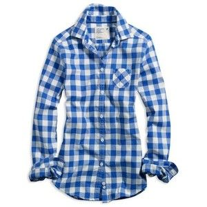 Blue And White Checkered Shirt Womens