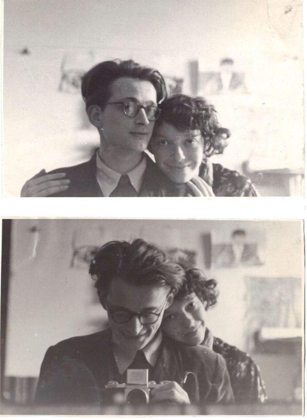 Andrzej Wroblewski Autoportret Z Zona Maj 1954 Portrait Photography Inspiration Photobooth Pictures