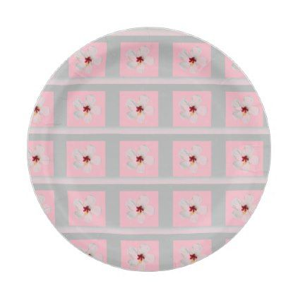 white flower framed in gray and pink paper plate  sc 1 st  Pinterest & White flower framed in gray and pink paper plate | Flower frame