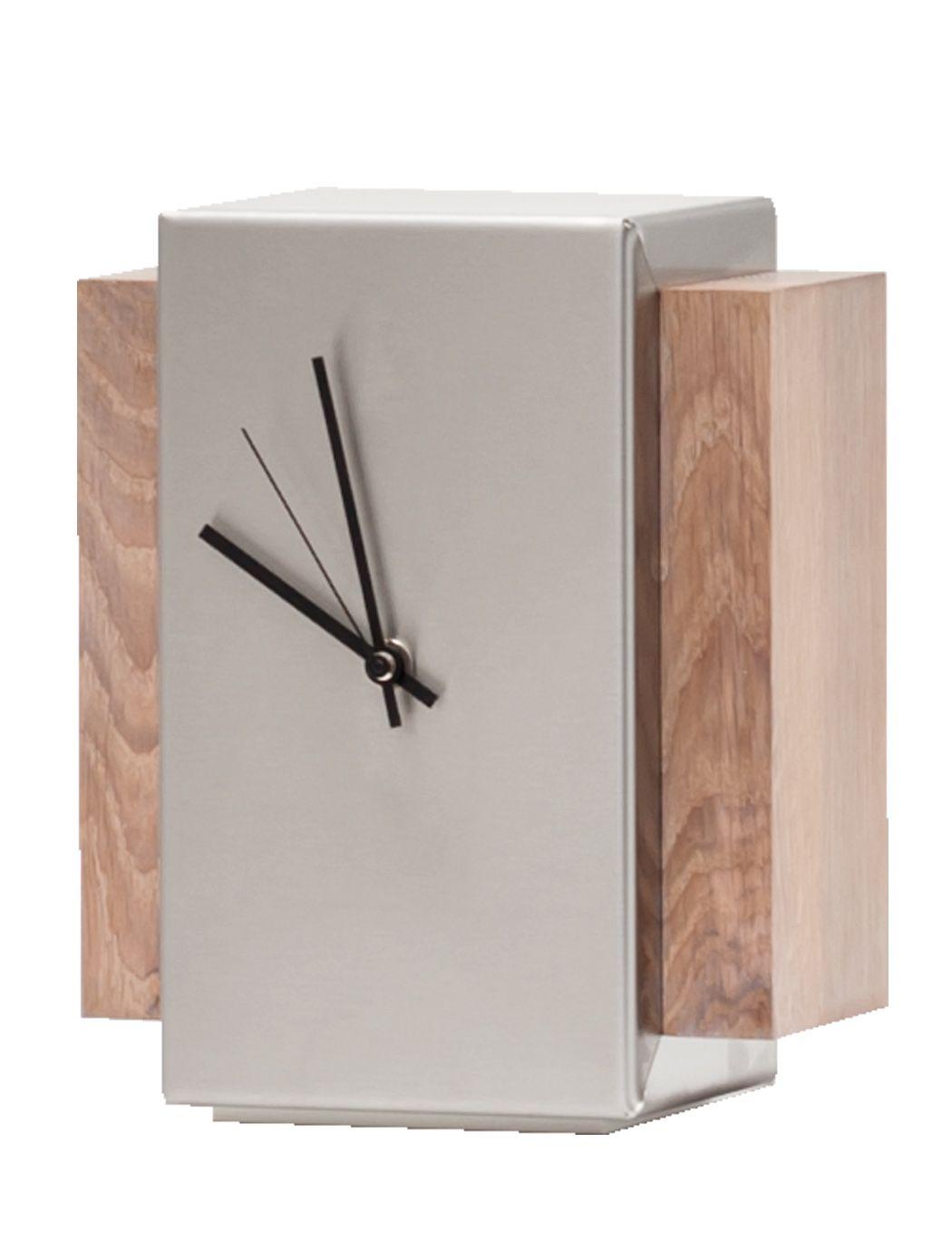 Design Tischuhr designer tischuhr hannover edelstahl mit eiche whitewash 2255 im