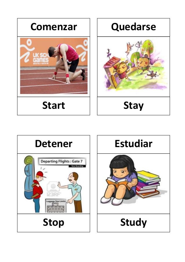 Verbos en ingles con dibujos | Learning spanish | Pinterest | Verbos ...