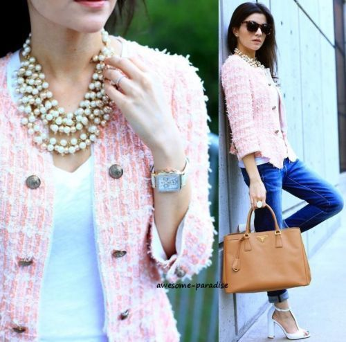Zara woman blazer peach coral pink boucle fantasy jacket coat ...